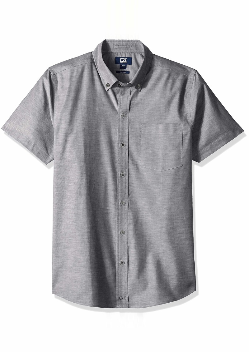 Cutter & Buck Men's Easy Care Tailored Fit Stretch Oxford Short Sleeve Shirt  XXXLarge