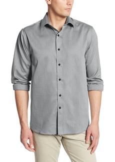 Cutter & Buck Men's Epic Easy Care Mini Herringbone Shirt