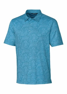Cutter & Buck Men's Forge Paisley Heather Print Polo Chambers L