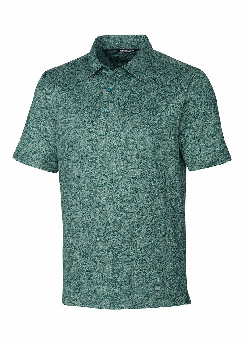 Cutter & Buck mens Men's Forge Paisley Heather Print Polo Shirt   US