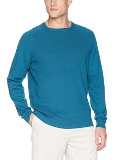 Cutter & Buck Men's Lakemont Mixed Stitch Crew Long Sleeve Classic Sweater