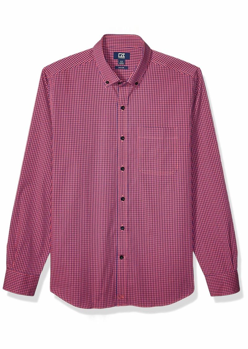 Cutter & Buck Men's Long Sleeve Anchor Gingham Button Up Shirt  M