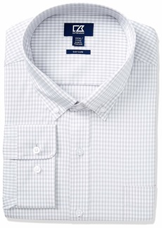 Cutter & Buck Men's Long Sleeve Anchor Gingham Button Up Shirt  XXXL