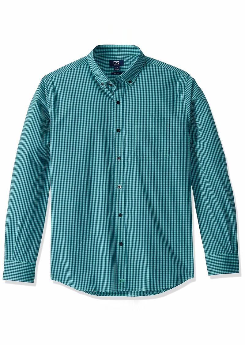 Cutter & Buck Men's Long Sleeve Anchor Gingham Button Up Shirt  L