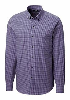 Cutter & Buck Men's Long Sleeve Anchor Gingham Tailored Fit Button Up Shirt  XXL