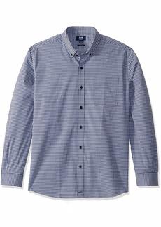 Cutter & Buck Men's Long Sleeve Anchor Gingham Tailored Fit Button Up Shirt  M