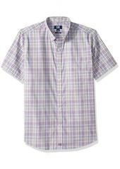 Cutter & Buck Men's Medium Easy Care Button Down Short Sleeve Shirts   Big