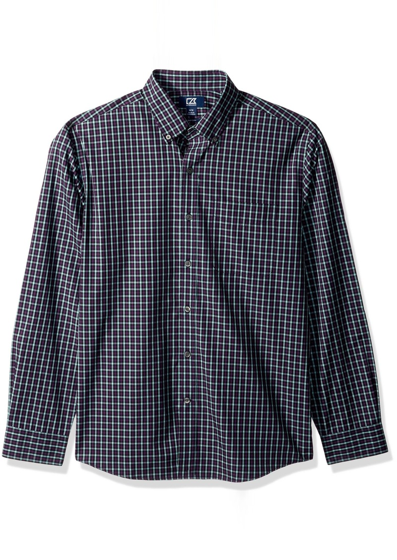 Cutter & Buck Men's Medium Plaid Easy Care Button Down Collared Shirts