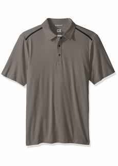 Cutter & Buck Men's Moisture Wicking 50+ UPF Fusion Snap Placket Polo Shirt