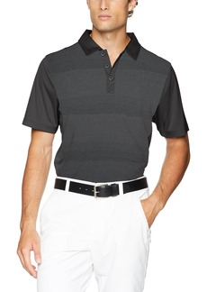Cutter & Buck Men's Moisture Wicking Drytec Crescent Stripe Panel Polo Shirt  X Large
