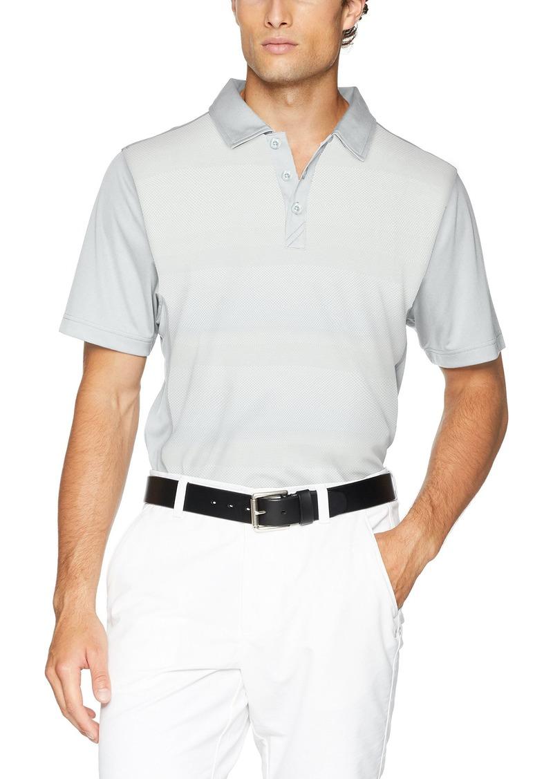 Cutter & Buck Men's Moisture Wicking Drytec Crescent Stripe Panel Polo Shirt iced