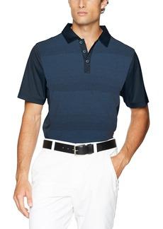 Cutter & Buck Men's Moisture Wicking Drytec Crescent Stripe Panel Polo Shirt  XXX Large