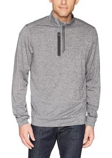 Cutter & Buck Men's Moisture Wicking Drytec Heathered Stealth Half Zip Pullover  XLarge