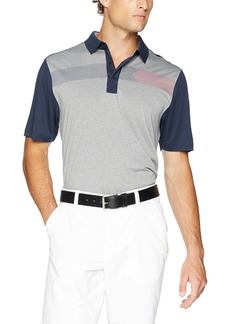 Cutter & Buck Men's Moisture Wicking Drytec Horizontal Print Trent Polo Shirt  XXX Large