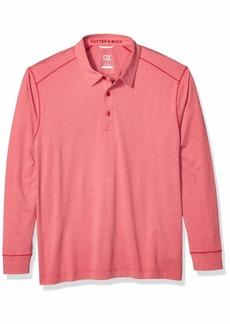 Cutter & Buck Men's Moisture Wicking Drytec UPF 50+ Long Sleeve Solid Polo Shirt