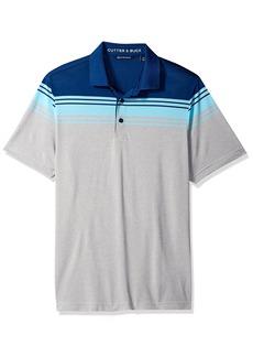 Cutter & Buck Men's Moisture Wicking Drytec Valient Horizontal Stripe Polo Shirt