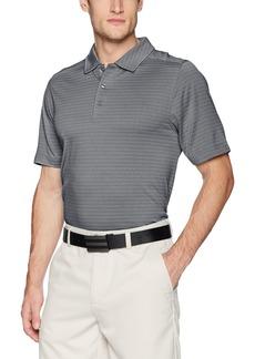 Cutter & Buck Men's Moisture Wicking Textured Cascade Melange Stripe Polo Shirt  XX Large