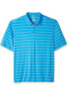 Cutter & Buck Men's Moisture Wicking UPF 50+ Everett Multi-Stripe Polo Shirt