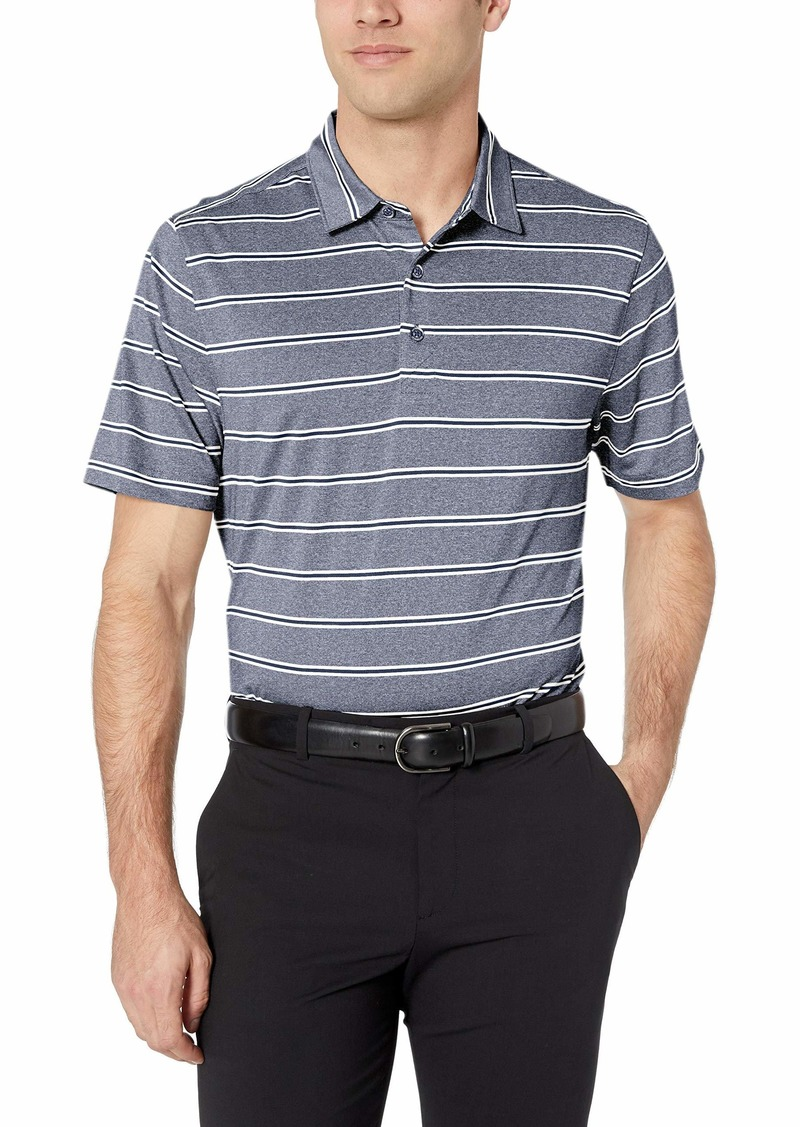 Cutter & Buck Men's Moisture Wicking UPF Drytec Forge Heather Stripe Polo Shirt