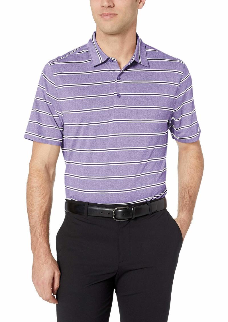 Cutter & Buck Men's Moisture Wicking UPF Drytec Forge Heather Stripe Polo Shirt
