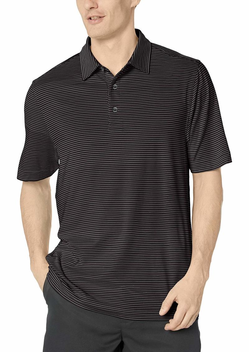 Cutter & Buck Men's Moisture Wicking UPF Drytec Forge Pencil Stripe Polo Shirt