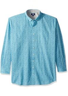 Cutter & Buck Men's Non-Iron Jameson Seersucker Print Long Sleeve Collared Shirt Newport
