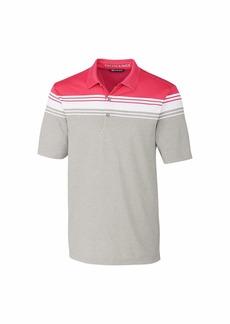 Cutter & Buck Men's Short Sleeve 3 Button Alki Valiant Stripe Polo  XXXL