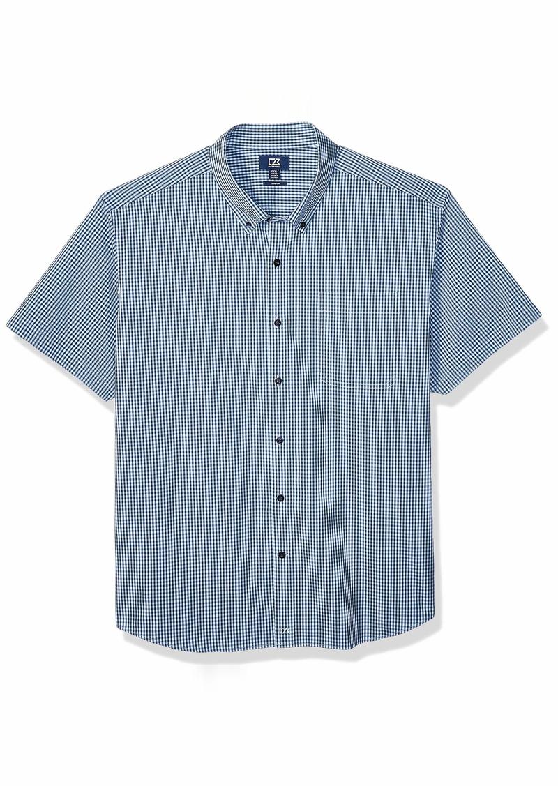 Cutter & Buck Men's Short Sleeve Anchor Gingham Button Up Shirt  S