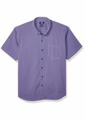 Cutter & Buck Men's Short Sleeve Anchor Gingham Button Up Shirt  XL