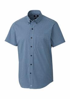 Cutter & Buck Men's Short Sleeve Anchor Gingham Button Up Shirt  XXL