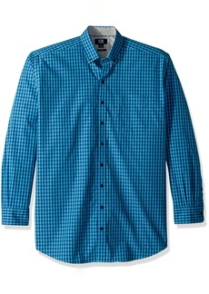 Cutter & Buck Men's Small Plaid Easy Care Button Down Collared Shirts
