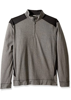 Cutter & Buck Men's Smooth Melange Stripe Shoreline Colorblock Full Zip Jacket  XXX-Large