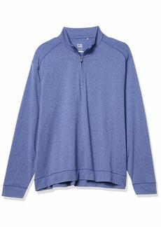 Cutter & Buck Men's Soft Performance Subtle Stripe Shoreline Half-Zip Pullover