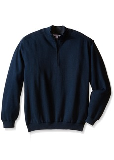 Cutter & Buck Men's Tall Broadview Half Zip Sweater