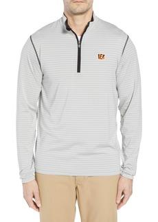 Cutter & Buck Meridian - Cincinnati Bengals Regular Fit Half Zip Pullover