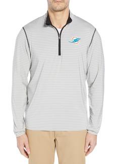 Cutter & Buck Meridian - Miami Dolphins Regular Fit Half Zip Pullover