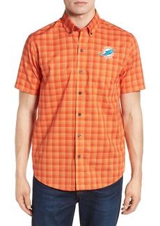 Cutter & Buck Miami Dolphins - Fremont Regular Fit Check Sport Shirt