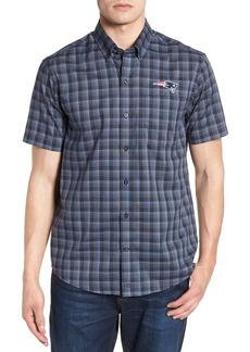 Cutter & Buck New England Patriots - Fremont Regular Fit Check Sport Shirt