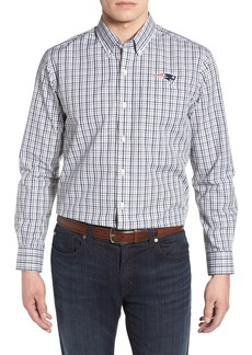Cutter & Buck New England Patriots - Gilman Regular Fit Plaid Sport Shirt