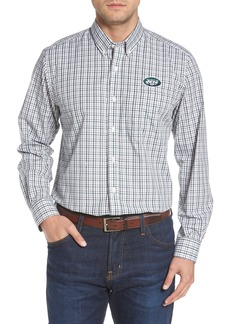 Cutter & Buck New York Jets - Gilman Regular Fit Plaid Sport Shirt