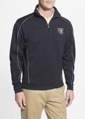 Cutter & Buck 'Oakland Raiders - Edge' DryTec Moisture Wicking Half Zip Pullover