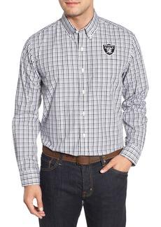Cutter & Buck Oakland Raiders - Gilman Regular Fit Plaid Sport Shirt