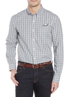 Cutter & Buck Philadelphia Eagles - Gilman Regular Fit Plaid Sport Shirt