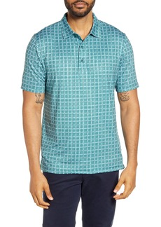 Cutter & Buck Pike Classic Fit Houndstooth Print Performance Polo
