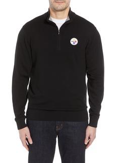 Cutter & Buck Pittsburgh Steelers - Lakemont Regular Fit Half Zip Sweater