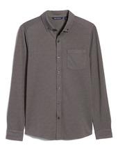 Cutter & Buck Reach Button-Down Piqué Knit Shirt