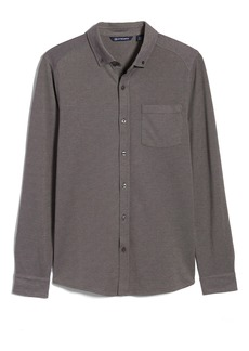Cutter & Buck Reach Button-Down Piqué Knit Shirt