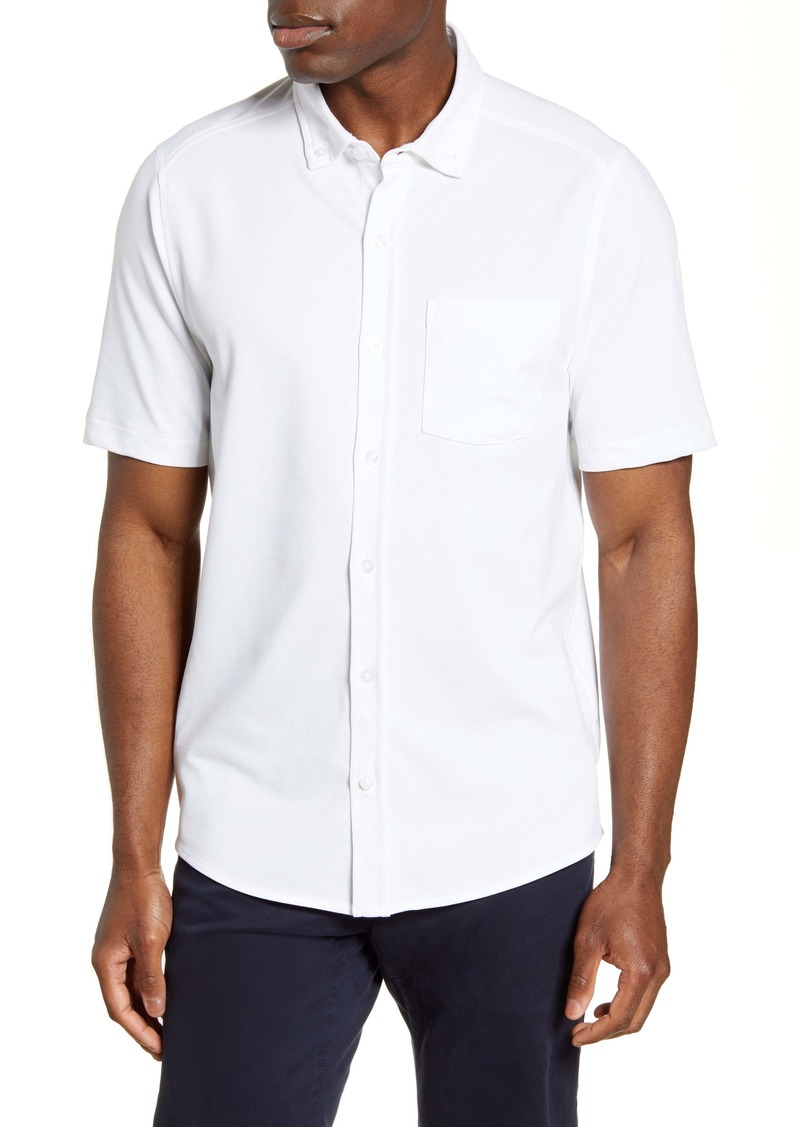 Cutter & Buck Reach Short Sleeve Oxford Button-Down Sport Shirt