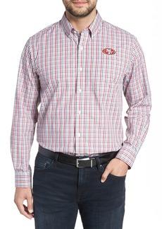 Cutter & Buck San Francisco 49ers - Gilman Regular Fit Plaid Sport Shirt