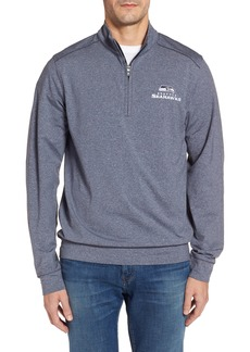 Cutter & Buck Seahawks Shoreline Quarter Zip Pullover
